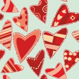 Seamless pattern isolated hearts Stock Photo