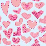 Seamless pattern isolated hearts Royalty Free Stock Photography