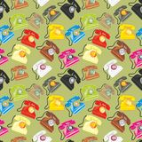 Seamless pattern isolated phones Royalty Free Stock Images