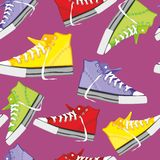 Seamless  pattern isolated shoes Stock Photo