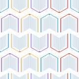 Seamless pattern with isometric books. Education or bookstore background in flat design style Stock Photography