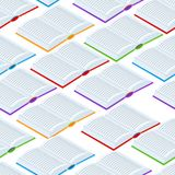 Seamless pattern with isometric books. Education or bookstore background in flat design style Stock Photos