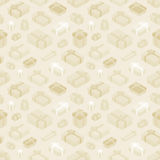 Seamless pattern with the isometric colored gift Royalty Free Stock Photography