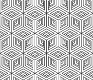 Seamless pattern from isometric cubes. Abstract geometric backdrop. Design background.  Royalty Free Stock Photos