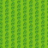 Seamless pattern with isometric dollar signs Stock Images