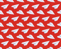 Seamless pattern with isometric paper planes Stock Photos