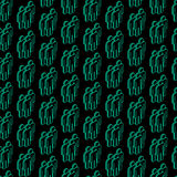 Seamless pattern with isometric people signs Royalty Free Stock Images