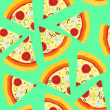 Seamless pattern with italian pizza Stock Image