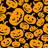 Seamless pattern with Jack-O-Lantern (Halloween pu Royalty Free Stock Image