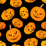 Seamless pattern with Jack-O-Lantern (Halloween pu Royalty Free Stock Photos