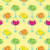 Seamless pattern with jam Stock Images