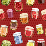 Seamless pattern with jam Royalty Free Stock Photography