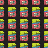 Seamless pattern with jam, marmalade. Vector illustration. Stock Photography