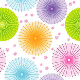 Seamless pattern with japanese umbrellas Royalty Free Stock Photography