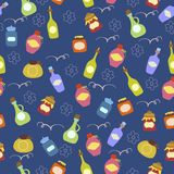 Seamless pattern with jars Royalty Free Stock Photo