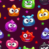 Seamless pattern with jelly characters Royalty Free Stock Photo