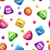 Seamless pattern with jelly characters Royalty Free Stock Photography
