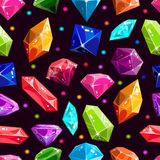 Seamless pattern with jewels and diamonds Royalty Free Stock Images