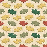 Seamless pattern with the jigsaw puzzle pieces Royalty Free Stock Images
