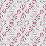 Seamless pattern of joint heart Royalty Free Stock Photos