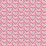 Seamless pattern of joint heart Stock Photography