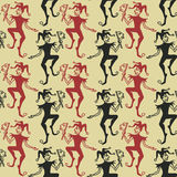 Seamless pattern of Jokers Royalty Free Stock Photo