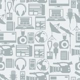 Seamless pattern with journalism icons. Royalty Free Stock Photo
