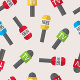 Seamless pattern - journalism, live news, news of the world. Royalty Free Stock Photo
