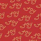 Seamless pattern joy christmas calligraphy Stock Photos