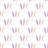 Seamless pattern with juggling mace. Hand-drawn background. Vector illustration. Real watercolor drawing Royalty Free Stock Photography