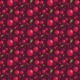 Seamless pattern of juicy cherries. illustration Stock Photography