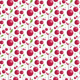 Seamless pattern of juicy cherries. illustration Royalty Free Stock Photos