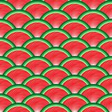 Seamless pattern of juicy slices of red watermelon. Watermelon abstract background. Concept of Hello Summer. Fruit vector vector illustration