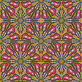 Seamless Pattern with Kaleidoscopic Decoratio Stock Photos
