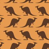 Seamless pattern with kangaroo. Vecdtor image of seamless pattern with kangaroo Royalty Free Stock Image
