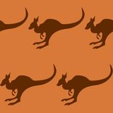 Seamless pattern with a kangaroo. Vector illustration Royalty Free Stock Images