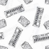 Seamless Pattern. Keyboard instruments Royalty Free Stock Photos