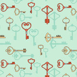 Seamless pattern from keys Stock Image