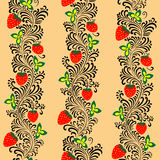 Seamless pattern Khokhloma Stock Images