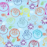 Seamless pattern of kid's faces Royalty Free Stock Photos