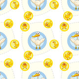 Seamless pattern with kid's theme Stock Images