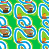 Seamless pattern with kid's theme Stock Photography