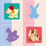 Seamless pattern with kid's theme Royalty Free Stock Photos