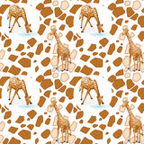 Seamless pattern with kid's theme Royalty Free Stock Photography