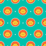 Seamless pattern for kids with cute lions Royalty Free Stock Image