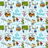 Seamless pattern with kids Stock Photography