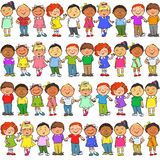 Seamless pattern with kids on it Stock Photos