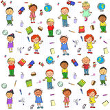 Seamless pattern with kids on it Stock Images