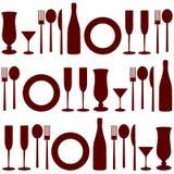 Seamless pattern of kitchen Royalty Free Stock Photo