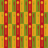 Seamless pattern of kitchen Stock Images